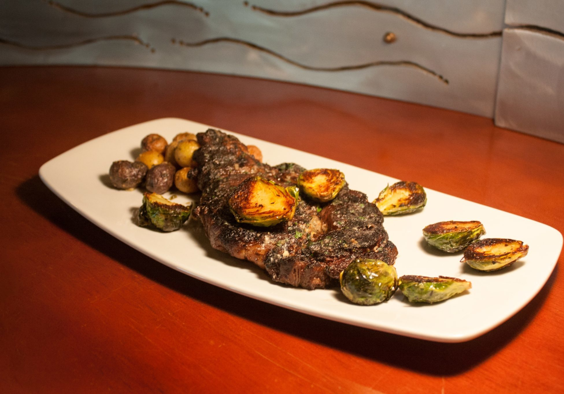 Vancouver Grilled Ribeye with Brussel Sprouts